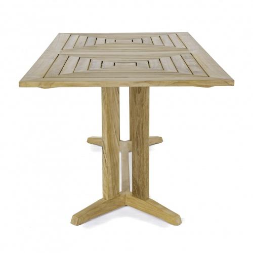 [rectangular teak outdoor dining table seats 6